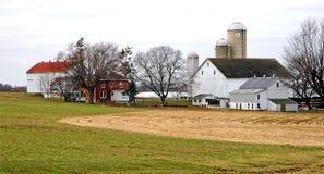 Exploração agrícola de Amish Fotos de Stock Royalty Free