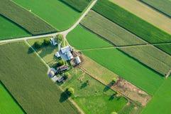 Exploração agrícola de cima de Imagem de Stock Royalty Free