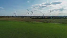 Exploração agrícola de energia renovável imagens de stock