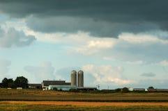 Exploração agrícola de Iowa Fotografia de Stock