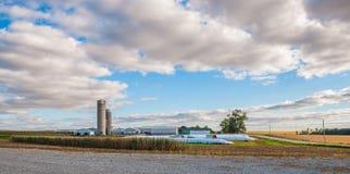 Exploração agrícola de Iowa Fotos de Stock