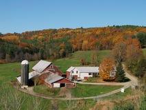 Exploração agrícola de leiteria de Vermont imagem de stock