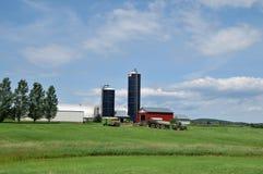 Exploração agrícola de leiteria de Vermont Imagens de Stock Royalty Free