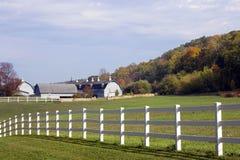 Exploração agrícola de leiteria de Wisconsin Imagens de Stock