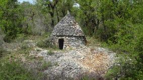 Exploração agrícola de pedra Buildingon a maneira de St James Fotos de Stock Royalty Free