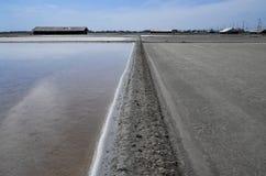 Exploração agrícola de sal Imagens de Stock Royalty Free