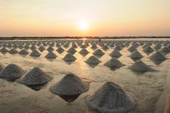 Exploração agrícola de sal, bandeja de sal em Tailândia Imagem de Stock Royalty Free