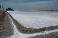 Exploração agrícola de sal do mar Imagem de Stock
