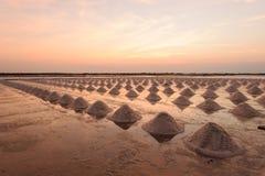 Exploração agrícola de sal em Tailândia Imagens de Stock