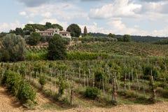 Exploração agrícola de trabalho típica de Tuscan Imagens de Stock Royalty Free