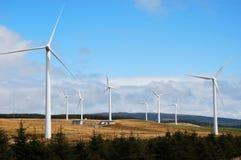 Exploração agrícola de vento. foto de stock
