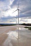 Exploração agrícola de vento. Imagens de Stock Royalty Free