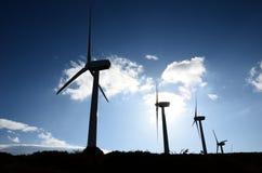 Exploração agrícola de vento de encontro à luz Foto de Stock
