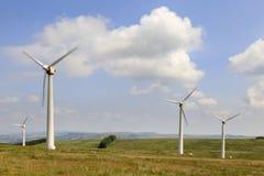 Exploração agrícola de vento de Penrhyddlan e de LLidiartywaun foto de stock