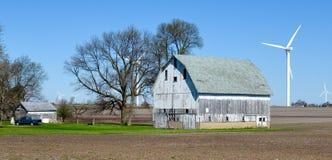 Exploração agrícola de vento do Condado de White Foto de Stock Royalty Free