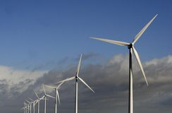 Exploração agrícola de vento e cloudscape Foto de Stock