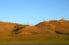 Exploração agrícola de vento em Califórnia Foto de Stock