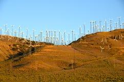 Exploração agrícola de vento em Califórnia Fotos de Stock