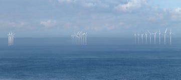 Exploração agrícola de vento litoral imagem de stock royalty free