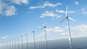 Exploração agrícola de vento no mar Foto de Stock Royalty Free