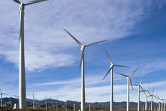Exploração agrícola de vento três Fotografia de Stock Royalty Free
