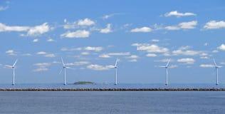 Exploração agrícola de vento w1 Fotos de Stock