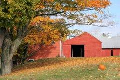 Exploração agrícola de Vermont na queda Fotos de Stock Royalty Free
