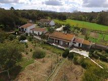 Exploração agrícola do bida do ¡ de Arrà da vista aérea Imagem de Stock Royalty Free