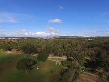 Exploração agrícola do bida do ¡ de Arrà da vista aérea Fotos de Stock Royalty Free