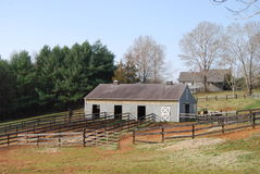 Exploração agrícola do cavalo imagens de stock royalty free