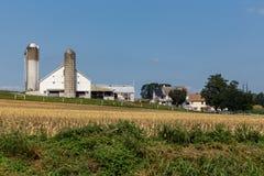 Exploração agrícola do Condado de Lancaster Amish foto de stock