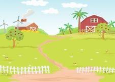 Exploração agrícola do fundo no campo Imagens de Stock