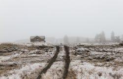 Exploração agrícola do inverno fotos de stock royalty free