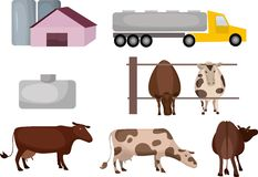 Exploração agrícola do leite Fotografia de Stock
