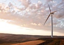 Exploração agrícola do moinho de vento Fotos de Stock