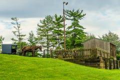 Exploração agrícola do país de Amish um lugar do resto em Lancaster, PA foto de stock