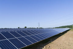 Exploração agrícola do painel solar Imagens de Stock