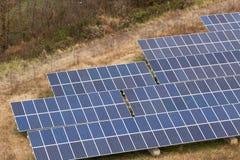 Exploração agrícola do painel solar Imagem de Stock