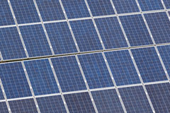 Exploração agrícola do painel solar Imagens de Stock Royalty Free