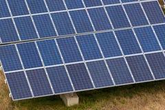 Exploração agrícola do painel solar Fotografia de Stock Royalty Free