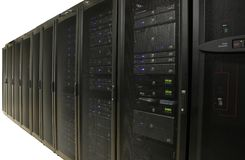 Exploração agrícola do server: Centro de dados - isolado Imagens de Stock Royalty Free
