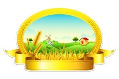 Exploração agrícola do trigo ilustração do vetor
