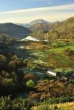Exploração agrícola do vale de Nant Gynant, Snowdonia, Wales norte Imagens de Stock Royalty Free