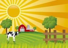 Exploração agrícola do vetor Imagens de Stock Royalty Free