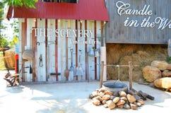 Exploração agrícola do vintage de Cenery Foto de Stock Royalty Free