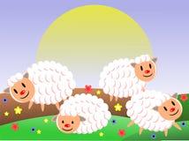 Exploração agrícola dos carneiros Foto de Stock Royalty Free