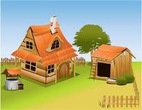 Exploração agrícola dos desenhos animados ilustração do vetor