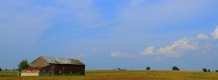 Exploração agrícola e céu Fotos de Stock
