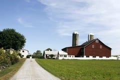 Exploração agrícola e casa de Amish Fotografia de Stock