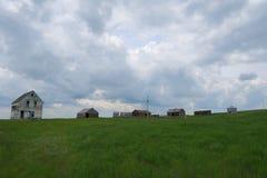 Exploração agrícola e casa pequenas do fantasma Imagens de Stock Royalty Free